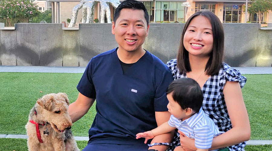 Frisco TX Dentist Dr. Daniel Kou and His Family